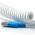 "White ""Old School"" Retractable Cable"
