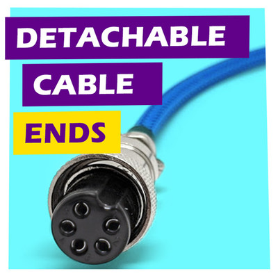 Detachable USB Cable Device Ends