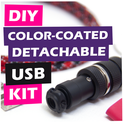 DIY Color-Coated Detachable USB Cable Kit