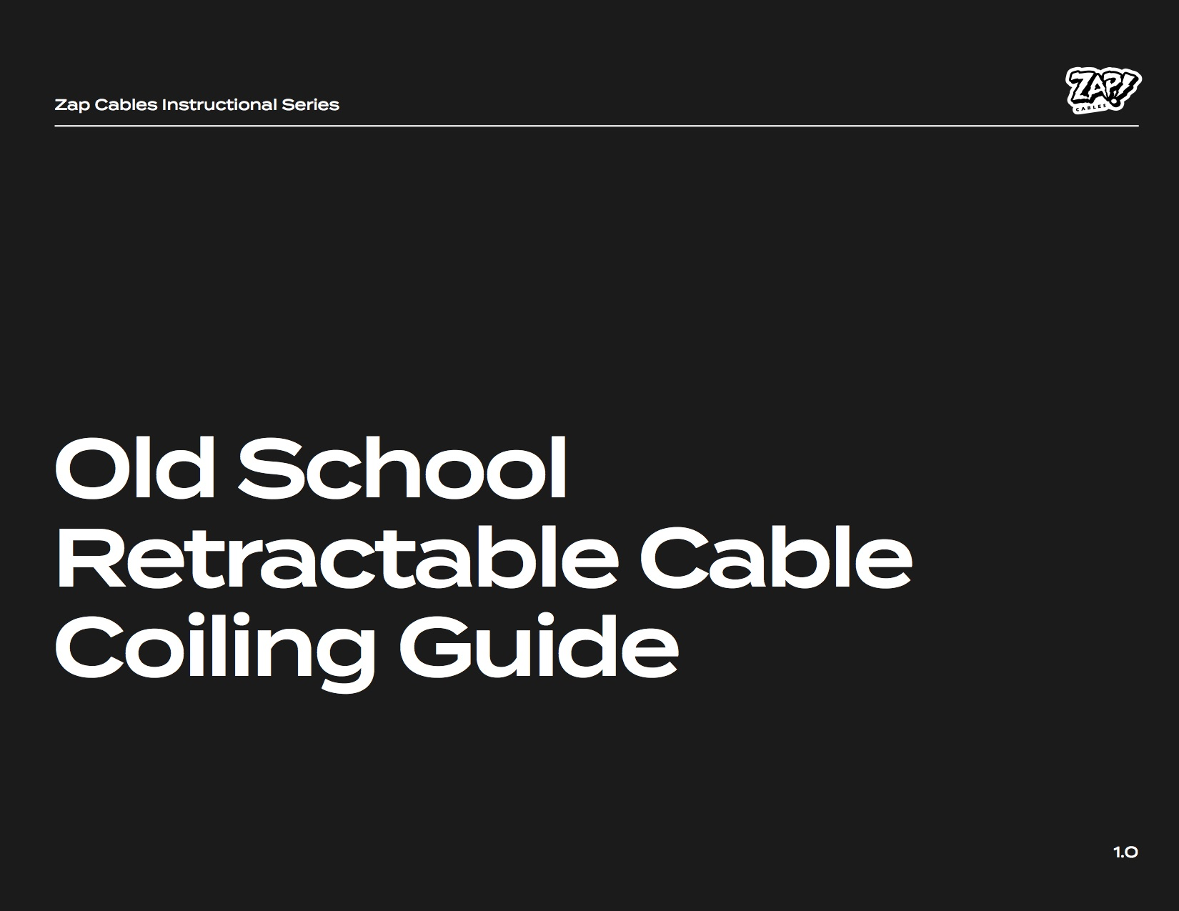 Old School Cable Coiling Guide cover image