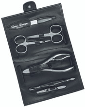 Dovo - 6 pc. Deluxe Manicure Set, Black (423011)