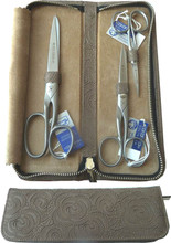 Dovo - 3 pc Sewing Set, Cowhide Case, Stainless, German, Solingen (450066)