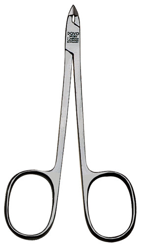 Dovo - Cuticle Nipper, Scissors Handle, Box Joint, 1/2 Jaw, Stainless (109000526)