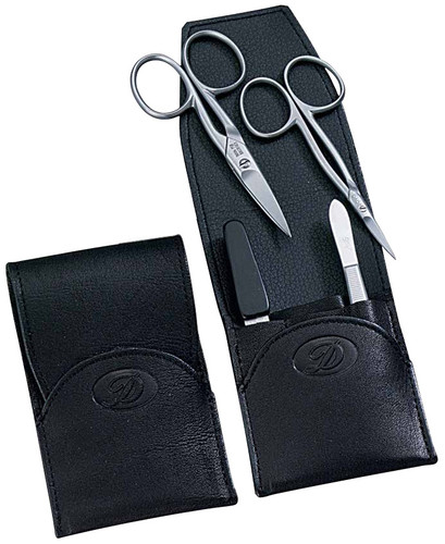Dovo - 4 pc. Manicure Set, Stainless, Black (344016)