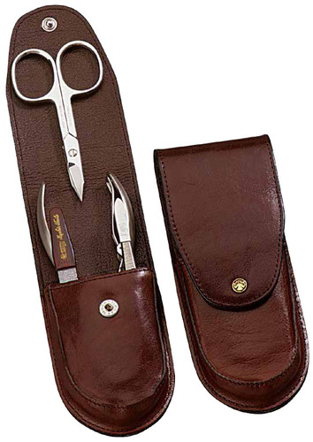 Dovo - 4 pc. Men's Manicure Set, Brown (957051)