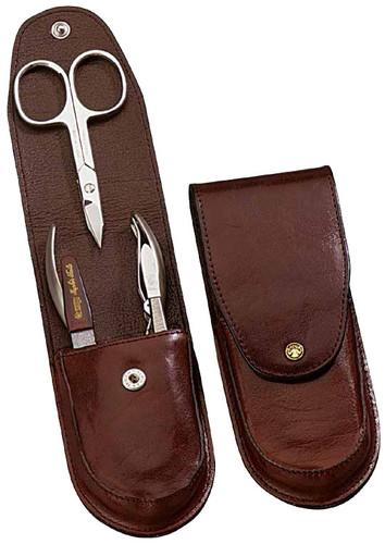 Dovo - 4 pc. Men's Manicure Set, Brown (957051)