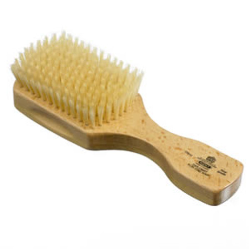 Kent - Hair Brush, Club Style, Satinwood, Soft White Bristle