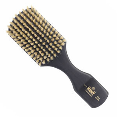 Kent - Premium Hair Brush, Club Style, Ebony, White Bristle