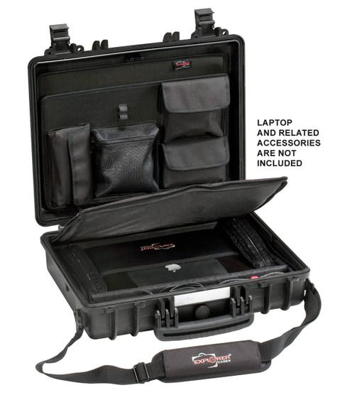 EXPLORER CASE 4412BC with divider, lid panel and shoulder strap