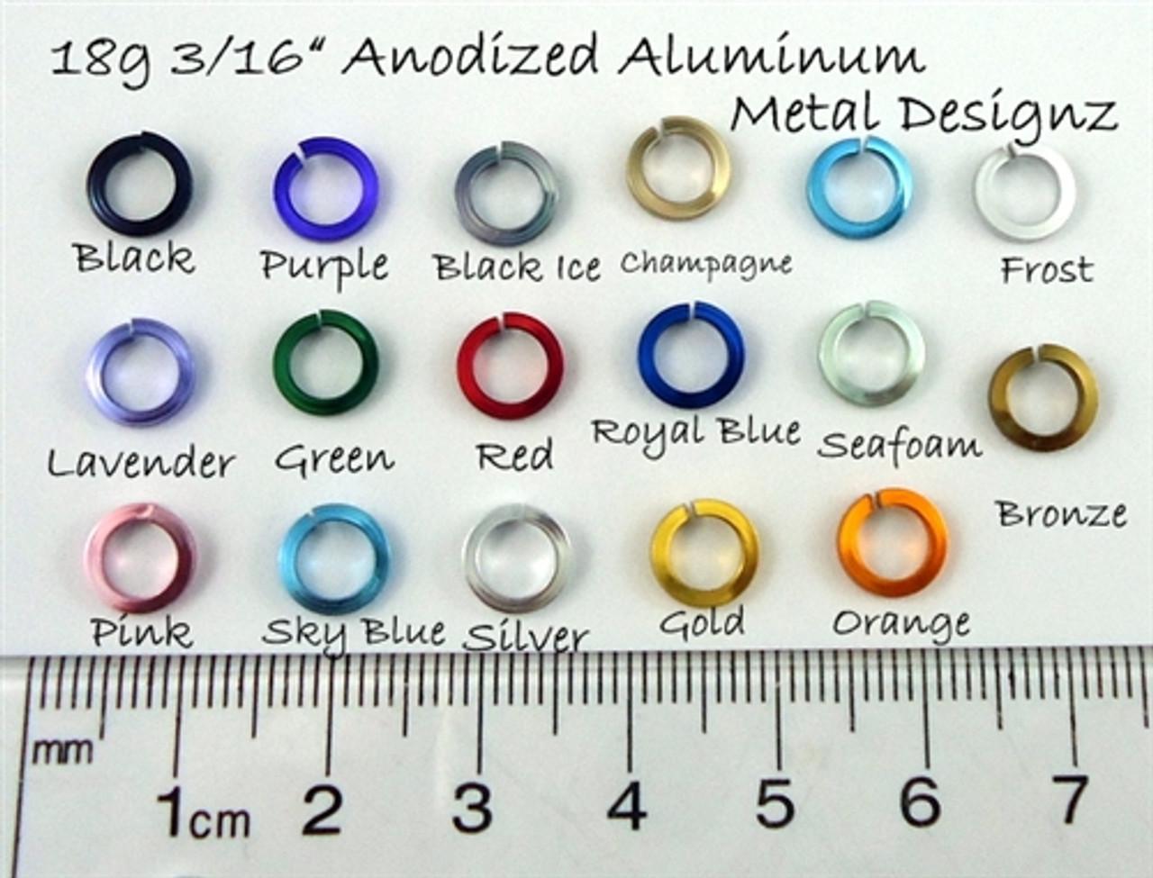 3 mm Diam Bronze color 500 jump rings