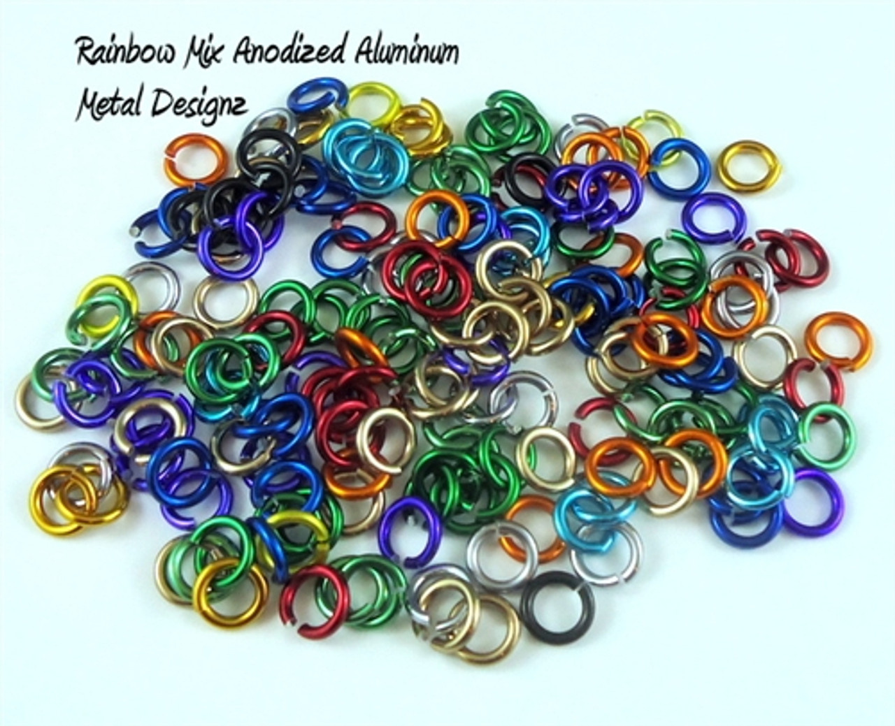 PINK Anodized Aluminum JUMP RINGS 500 5//32 18g SAW CUT Chainmail chain mail
