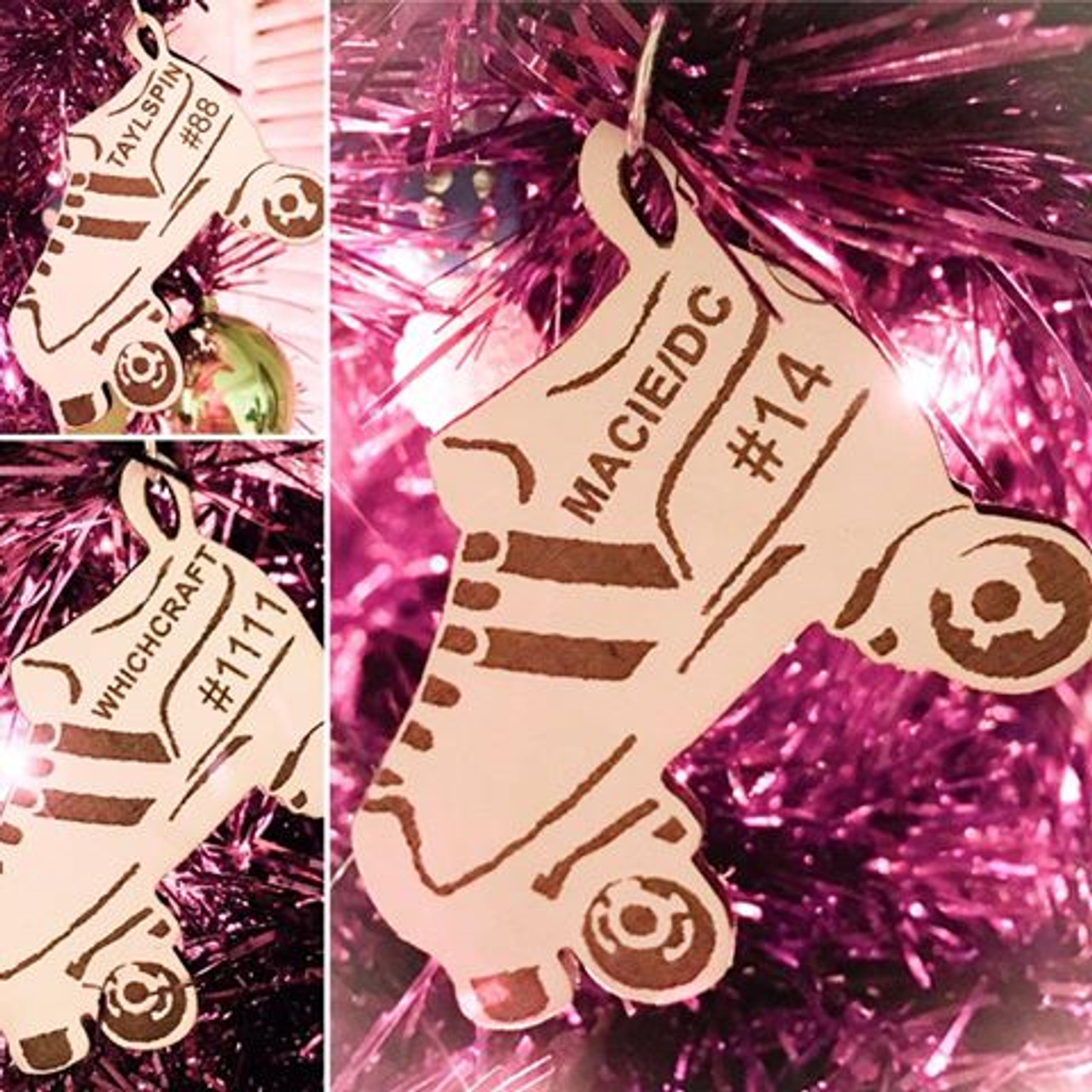 Christmas Ornaments Personalized.Roller Derby Christmas Ornaments Personalized For You