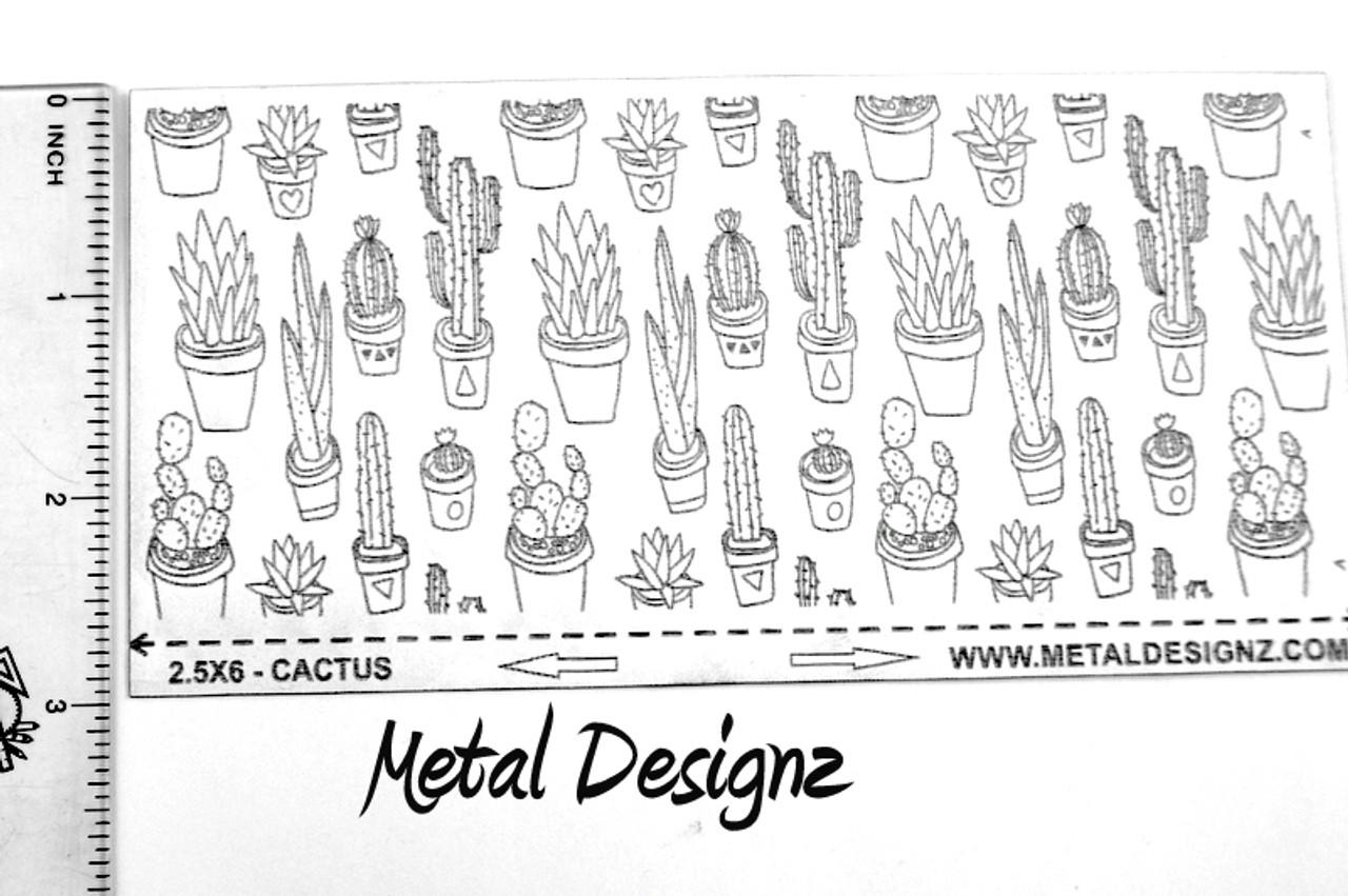 Laser Cut Texture Paper - Cactus