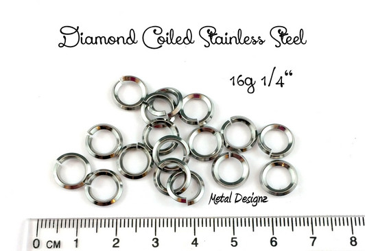 Made in the USA! 1 Box assorted Spring Temper Stainless Steel jump rings