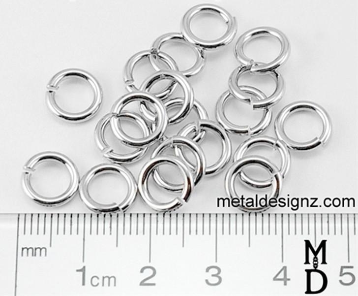 "Stainless Steel Jump Rings 16g 3/16"" ID"