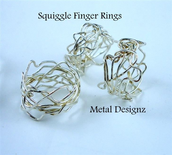 Sterling Silver Squiggle Ring