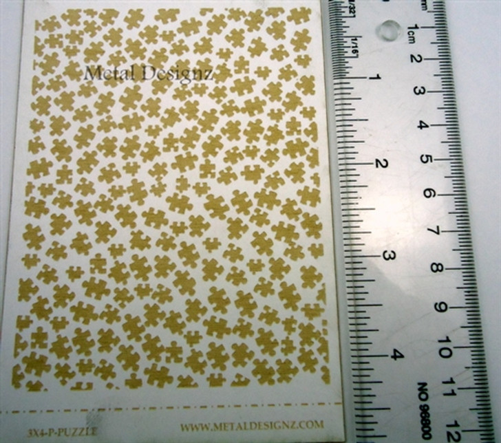 Laser Cut Texture Paper - Puzzle Pieces - Rolling Mill Patterns