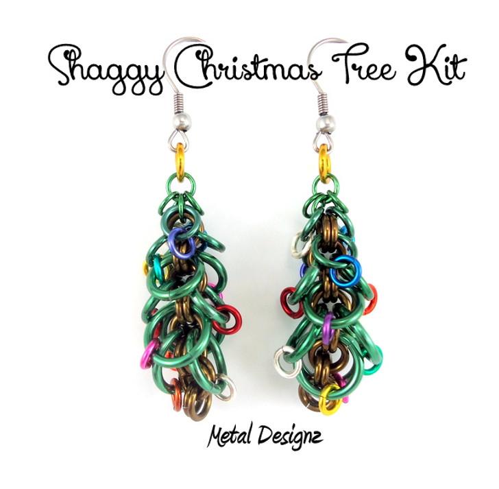 Shaggy Christmas Tree earring Kit - Do it yourself jewellery making kits