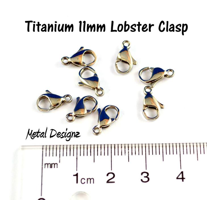 Titanium Clasp 11mm - Plain- Sold Individually