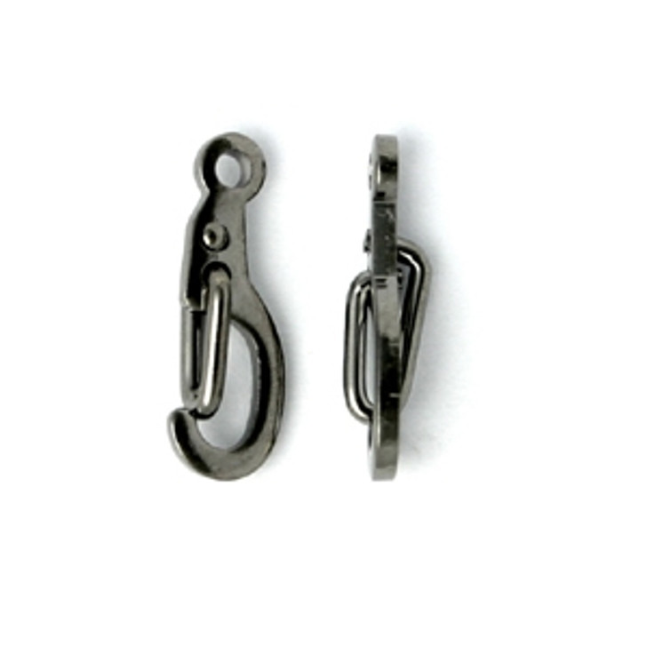 Self Closing Clasp Gun Metal , 10x5mm
