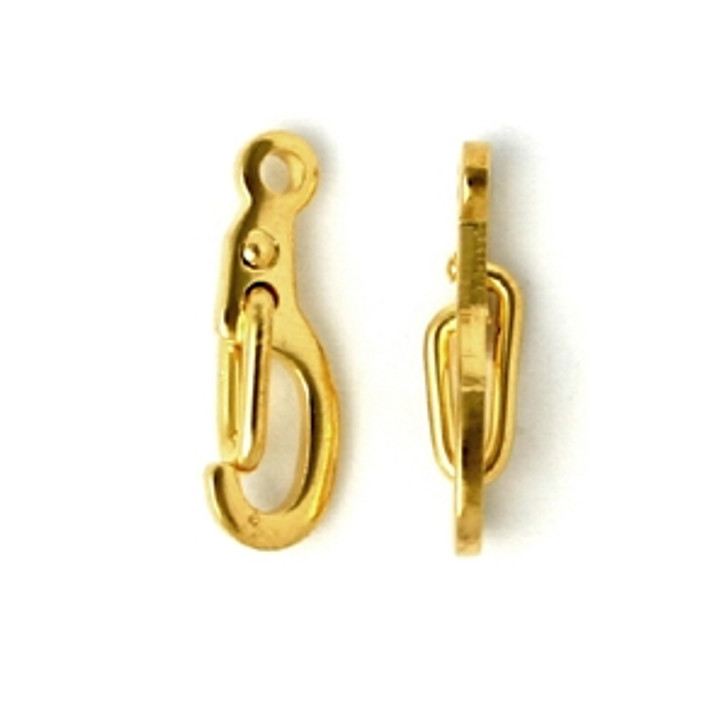 Self Closing Clasp gold-plated , 10x5mm