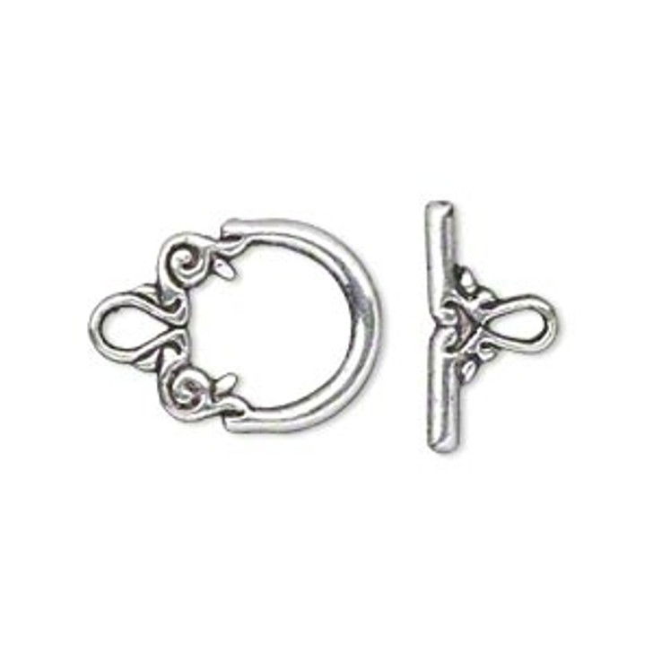 Toggle - Fancy - Antiqued Silver