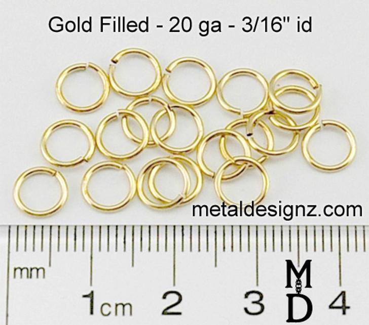 "Gold Fill 20 Gauge 3/16"" id."