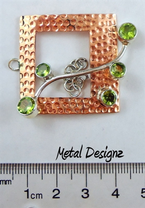 Copper Wave Bar Toggle - Square