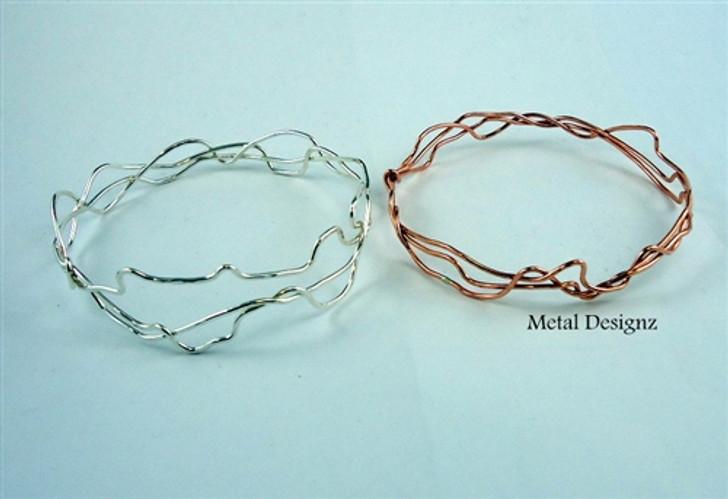 Copper Squiggle Bangle Bracelet