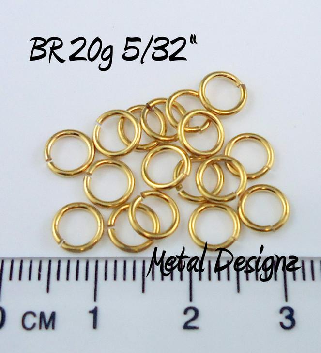 "Jewelers Brass Jump Rings 20 Gauge 5/32"" id."