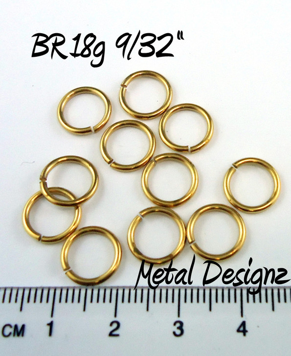 Jewelers Brass Jump Rings 18 Gauge 9/32""