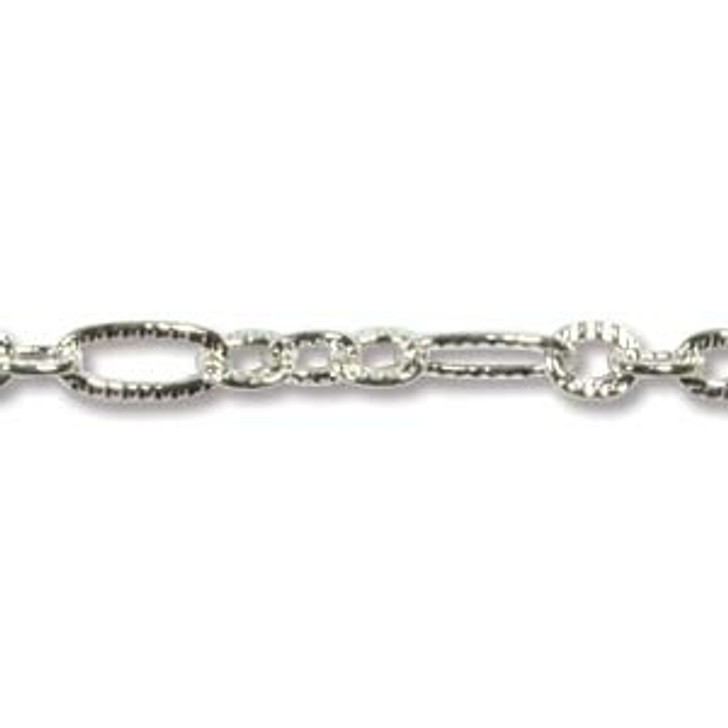 1.33MM PATTERN LINK CHAIN SILVER