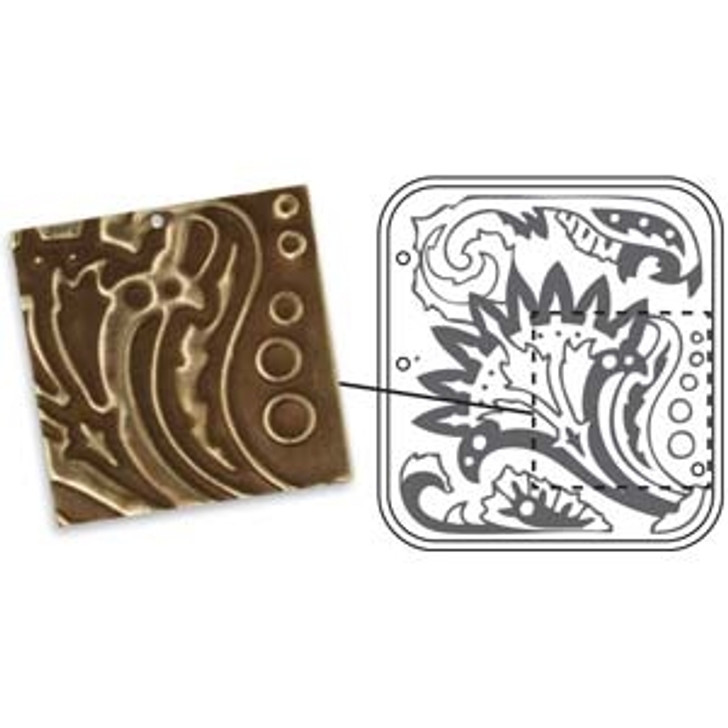 VINTAJ DECOEMBOSS DIE FLORAL DECOR  -Metal embossing folders for use with Cuttlebug or big Shot - Sizzix