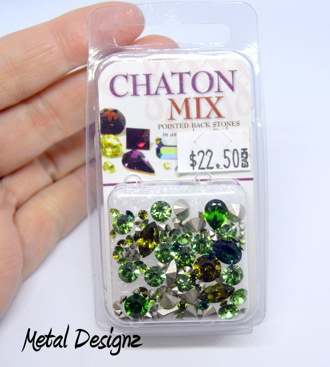 SWAROVSKI CHATON MIX Greens - Last one in stock