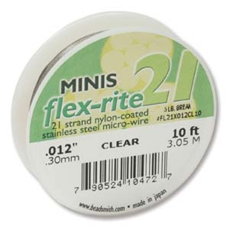 FLEXRITE 21 STRAND .012 CLEAR -10 FT