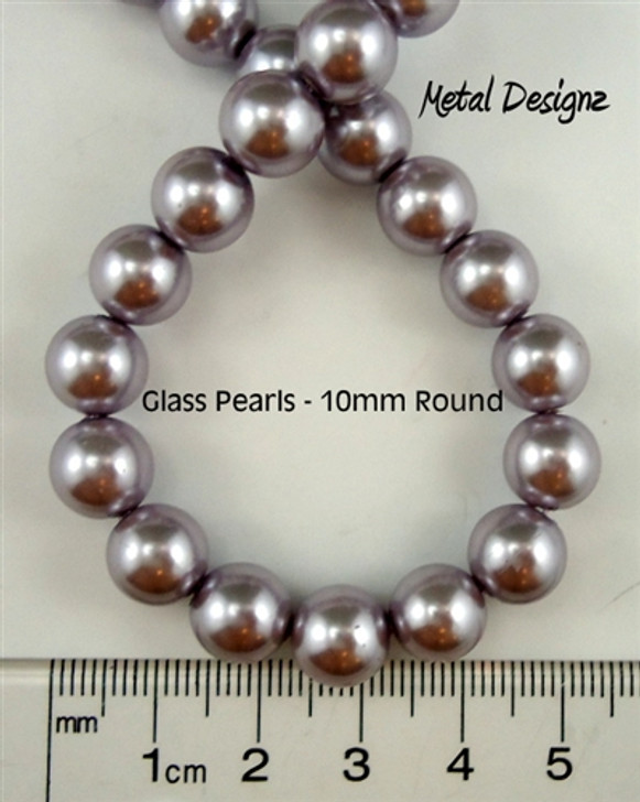 Pearls, Simulated Glass Pearl, 10mm Round