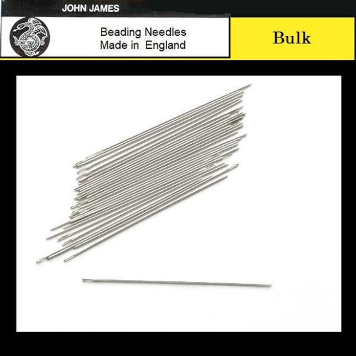 Short size 10 Beading Needles - 10 pack