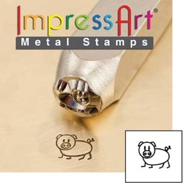 Oinky 6mm ImpressArt Metal Design Stamp