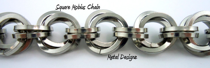 Stainless Steel Square Mobius Bracelet Kit