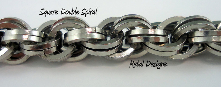 Stainless Steel Square Double Spiral Bracelet Kit