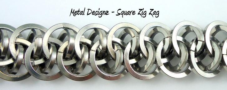 Stainless Steel Square Zig Zag Bracelet Kit