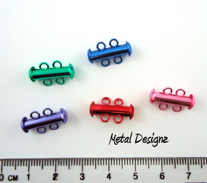 2 strand slide clasps - amazing colors