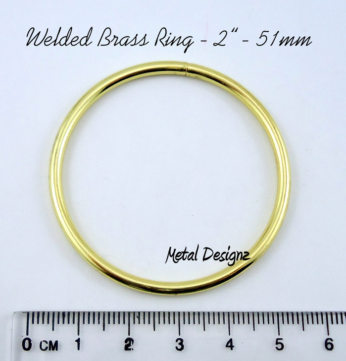 2 inch Solid Welded Rings - Solid Brass