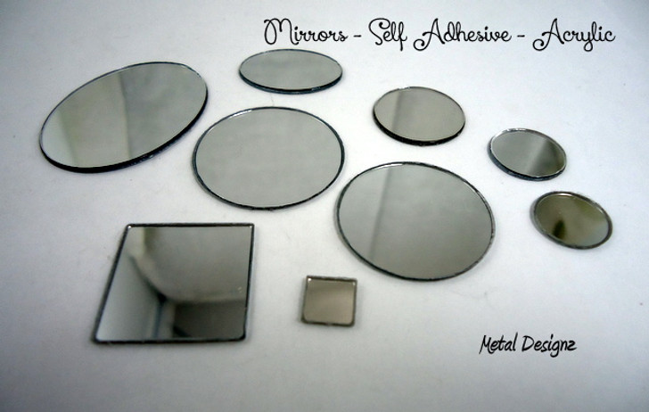 Beading Mirrors - Aboriginal Beading Supplies - Craft Mirror - Self Adhesive