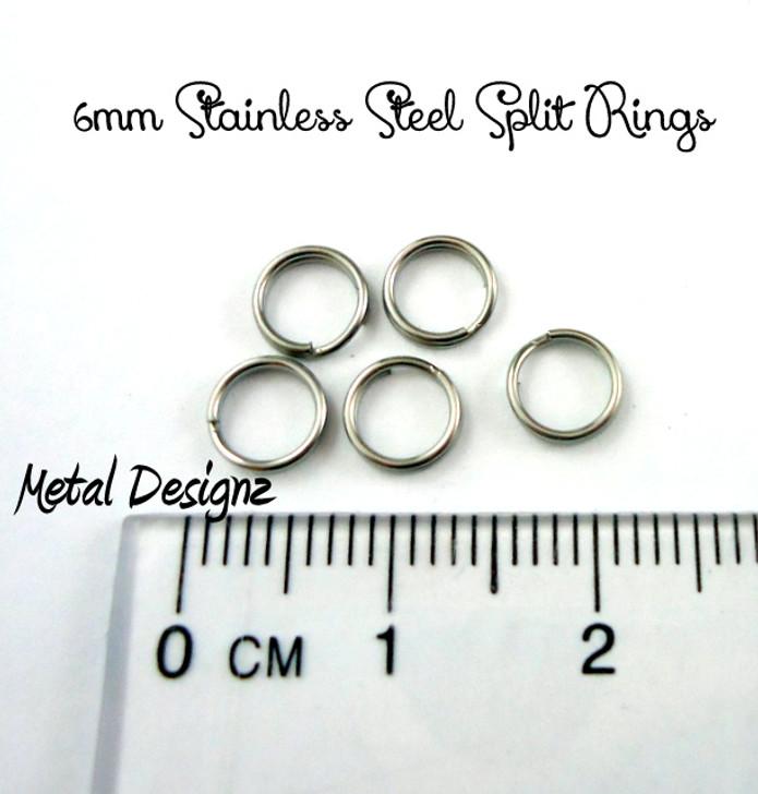 6mm Stainless Steel Split Rings