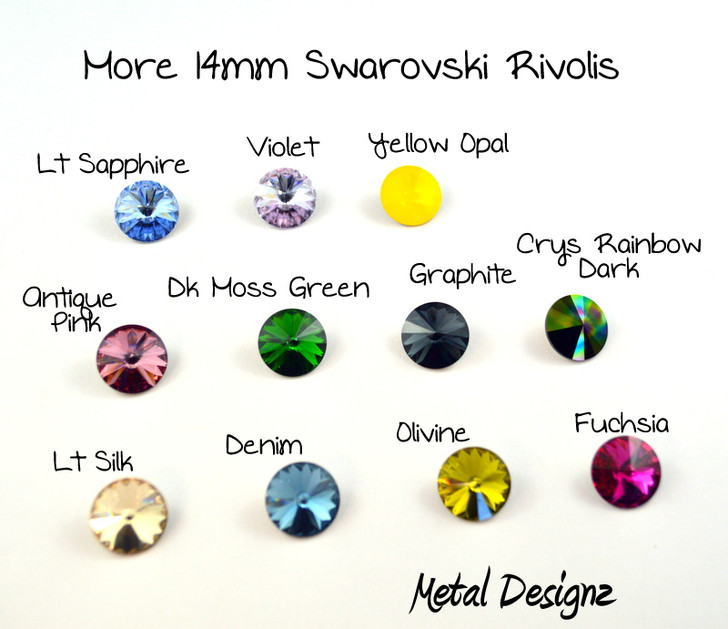 Rivoli 14mm - Swarovski Crystal - Sold individually