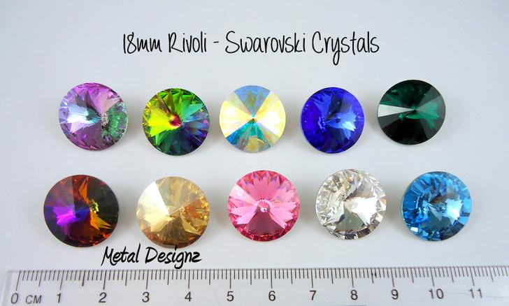 Rivoli 18mm - Swarovski Crystal - Sold individually