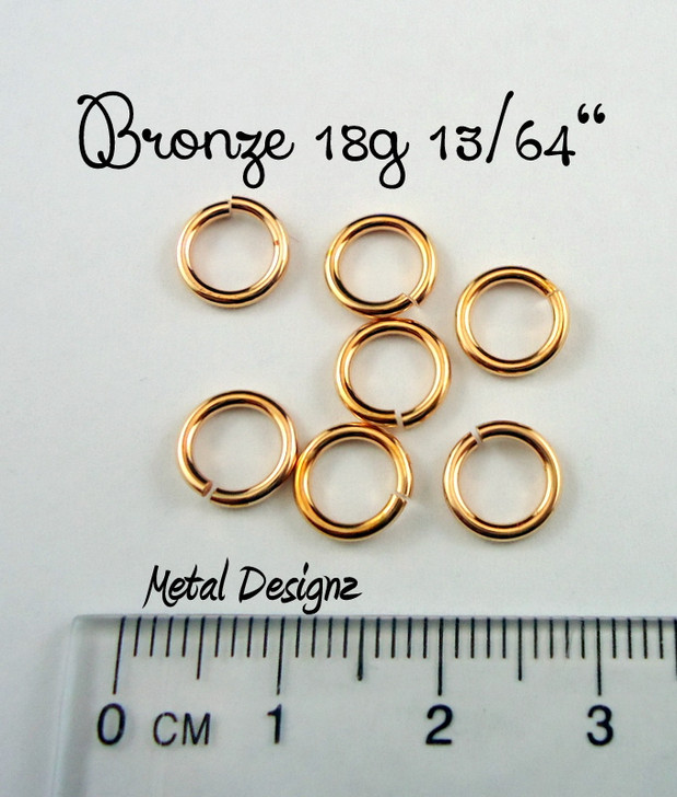 "Bronze 18g 13/64"" Jump Rings - Saw Cut Premium Jump Rings"
