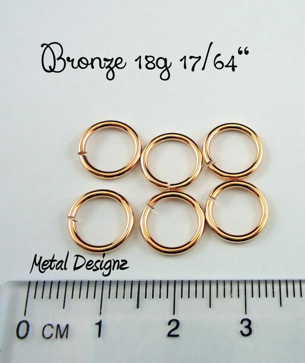 """Bronze 18g 17/64"""" Jump Rings - Saw Cut Premium Jump RIngs"""