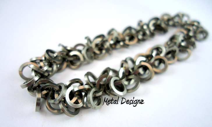 Stainless Steel Square Shaggy Loops Bracelet